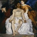 Cristo muerto con ángeles